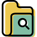 Folder, file storage, interface, search, Data Storage, Office Material, Business, storage SandyBrown icon