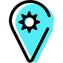 map pointer, Map Point, pin, placeholder, signs, Gps, Map Location, settings Turquoise icon