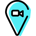 pin, Map Location, Gps, map pointer, placeholder, signs, Map Point, Cloud Turquoise icon