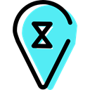 signs, placeholder, Map Location, Map Point, Wait, Gps, pin, map pointer Turquoise icon