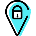 Gps, Map Location, privacy, Map Point, security, signs, pin, placeholder, map pointer Black icon