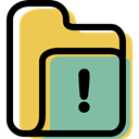 Folder, file storage, interface, Office Material, Data Storage, Business, warning, storage DarkSeaGreen icon