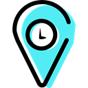 pin, Gps, map pointer, interface, Map Location, placeholder, Map Point, Clock, signs, Cloud, Wait Black icon