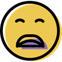 sad, smiling, Emoticon, Face, people, feelings, Emotion, interface, smiley SandyBrown icon
