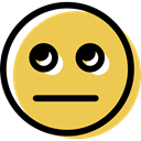 Emotion, Emoticon, Face, feelings, interface, people, surprised, smiley, smiling SandyBrown icon