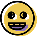 smiling, smiley, Face, Emoticon, happy, interface, people, feelings, Emotion SandyBrown icon