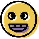 happy, feelings, Face, people, smiling, Emotion, smiley, interface, Emoticon SandyBrown icon