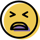 Face, smiling, people, Emotion, feelings, Emoticon, smiley, sad, interface SandyBrown icon