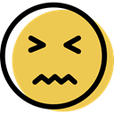 Face, feelings, smiling, interface, Emotion, smiley, Emoticon, people, nervous SandyBrown icon