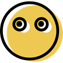 smiling, muted, smiley, Emoticon, people, Emotion, feelings, interface, Face SandyBrown icon