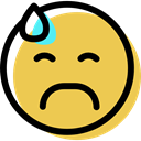 interface, feelings, people, Emoticon, Face, Emotion, sad, smiling, smiley SandyBrown icon