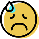 Emotion, Emoticon, interface, Face, smiley, feelings, people, sad, smiling SandyBrown icon