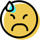 smiling, interface, Emotion, smiley, Emoticon, feelings, Face, sad, people SandyBrown icon