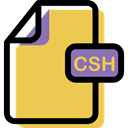 Multimedia, Format, Csh, document, File, Archive SandyBrown icon