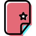 Archive, Favorite, File, document, Format, Multimedia LightCoral icon