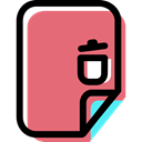 File, Archive, document, Multimedia, Format, recycling LightCoral icon