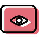 looking, Eyes, look, optical, Multimedia, Ophthalmology, vision, medical, Eye LightCoral icon