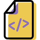 document, Coding, Multimedia, Format, Archive, File SandyBrown icon