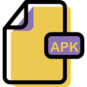 Format, File, Multimedia, document, Apk, Archive SandyBrown icon