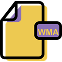 File, Multimedia, Format, Archive, Wma, document SandyBrown icon