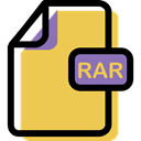 Multimedia, document, Rar, Format, Archive, File Icon