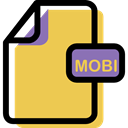 File, Archive, document, Multimedia, Format, Mobi SandyBrown icon