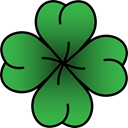 Clover, vintage, hipster, Old School, tattoo SeaGreen icon
