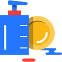 washing, cleaning, Plates, Dishes, Liquid Soap DodgerBlue icon