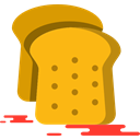 toast, Bread, breakfast, Bakery, food, meal Orange icon