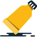 Glue, Bottle, liquid Orange icon