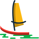 Sailboat, Boat, transport, sailing boat, navigation Black icon