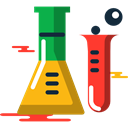 Chemistry, flask, Test Tube, science, Flasks, chemical, education Black icon