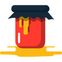 marmalade, food, covered, Jar, sweet, Fruit, Container, Jelly Black icon