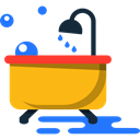 hygiene, Clean, washing, Bathtub, bathroom, Bath, Hygienic Black icon