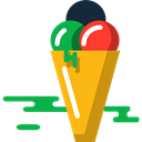 sweet, Dessert, summer, food, Summertime, Ice cream Black icon