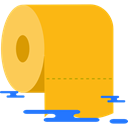 toilet paper, bathroom, hygiene Orange icon