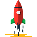 Rocket, Space Ship Launch, Space Ship, transport, Rocket Ship, Rocket Launch Black icon