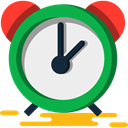 alarm clock, Tools And Utensils, Clock, timer, time WhiteSmoke icon