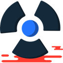 nuclear, radiation, Radioactive, power, Alert, signs, Energy DarkSlateGray icon