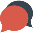 Comment, interface, Bubble speech, Message, Chat IndianRed icon