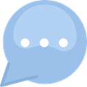 Comment, interface, Message, Chat, Conversation, Bubble speech SkyBlue icon
