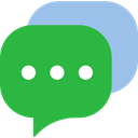 Conversation, Message, Comment, Chat, Bubble speech, interface LimeGreen icon