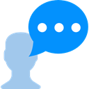 Message, Chat, Bubble speech, Conversation, Comment, interface DodgerBlue icon