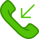 phone receiver, phone call, phone, Telephone Call, telephone, interface LimeGreen icon