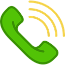 phone call, telephone, ringing, phone, interface, Telephone Call Black icon