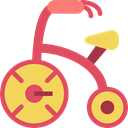 Toy, transportation, tricycle, vehicle, children, transport IndianRed icon