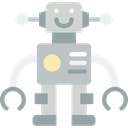 Toy, robot, toys, Baby Toy, technology, children, Robots, metallic, metal Black icon