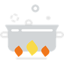 boiling, Stew, food, hot, Cooking, fire, Cook, pot LightGray icon