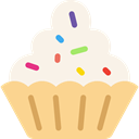 food, muffin, baked, Dessert, Bakery, sweet, cupcake Linen icon