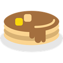 Pancakes, sweet, Dessert, Syrup, french, food, baker Sienna icon